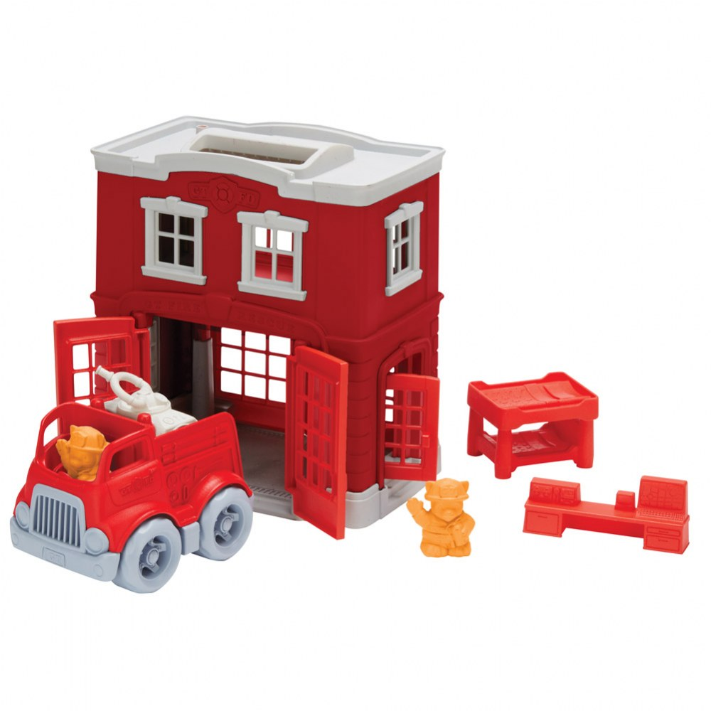 Green Toys™ Fire Station and Fire Truck Playset