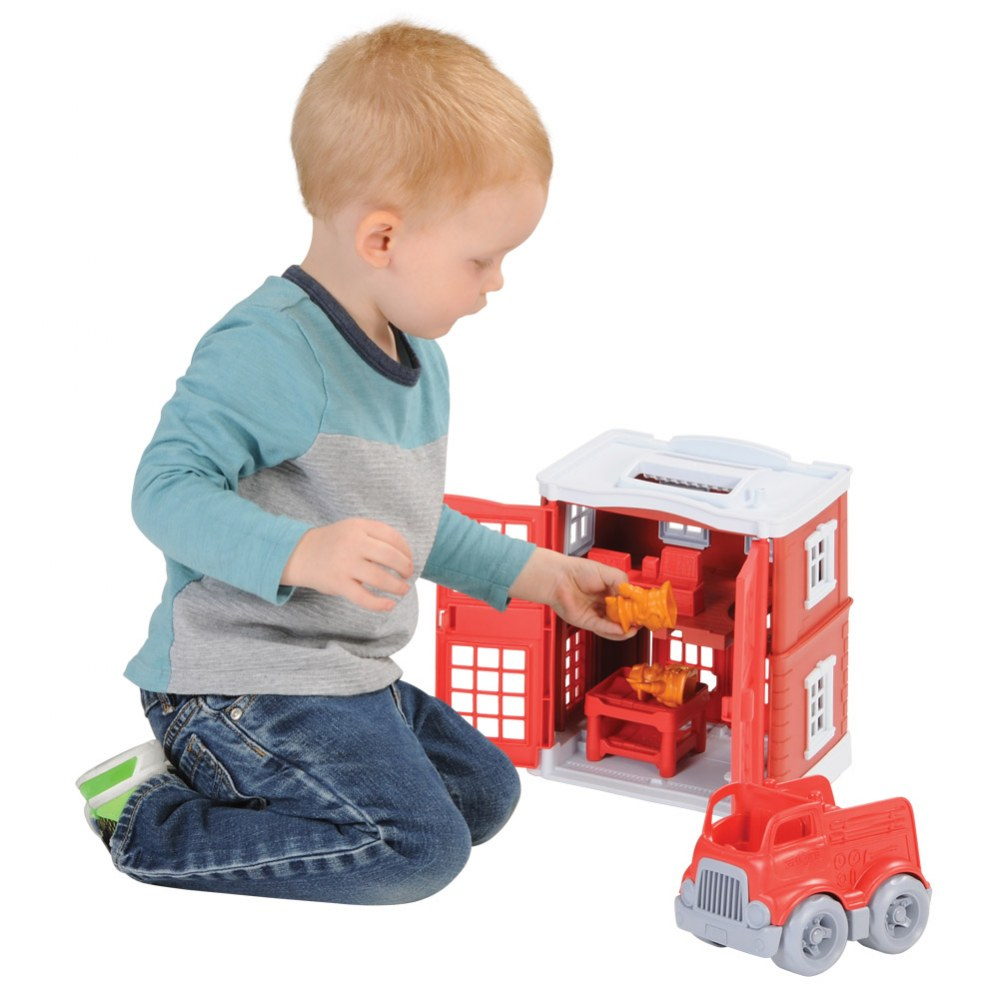 Alternate Image #1 of Green Toys™ Fire Station and Fire Truck Playset