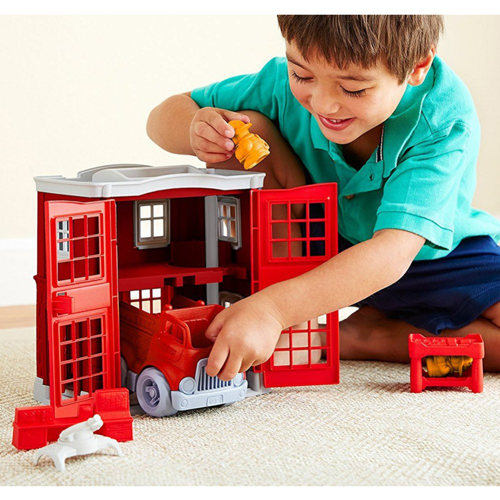 Alternate Image #3 of Green Toys™ Fire Station and Fire Truck Playset