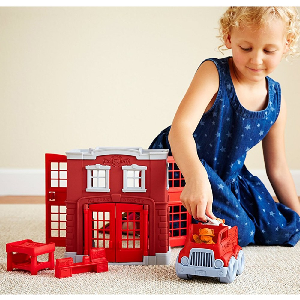 Alternate Image #4 of Green Toys™ Fire Station and Fire Truck Playset