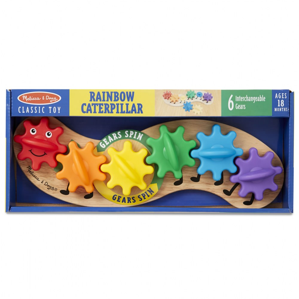 Alternate Image #5 of Rainbow Caterpillar Gear Toy