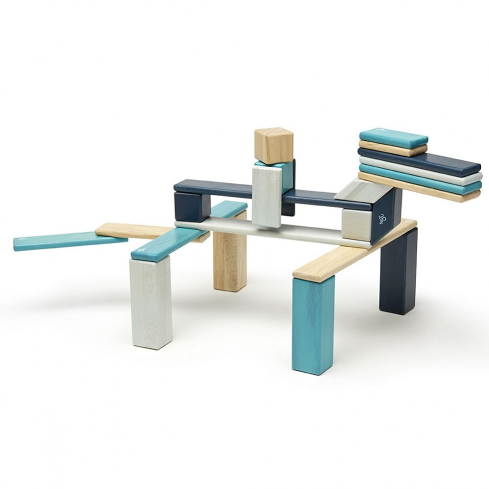 Alternate Image #1 of Tegu Blues Magnetic Wooden Blocks (24 Pieces)
