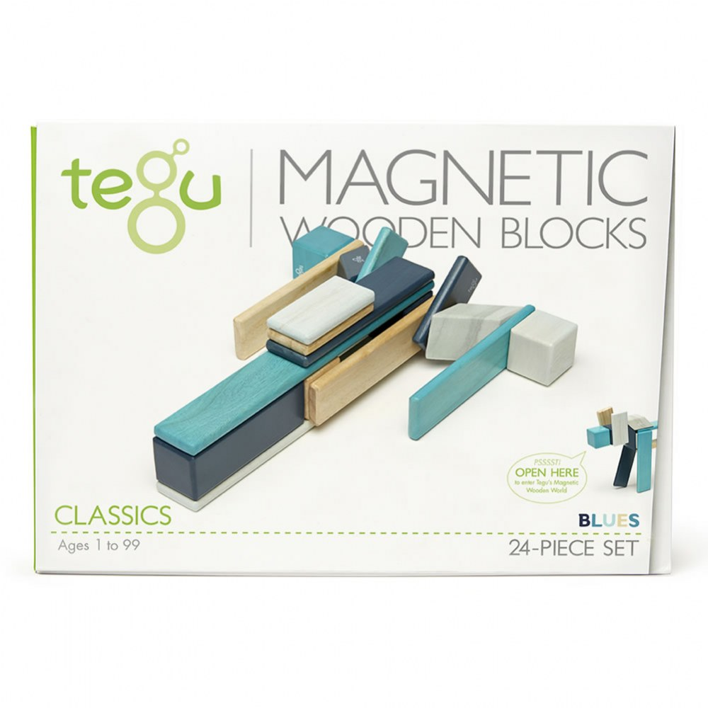 Alternate Image #4 of Tegu Blues Magnetic Wooden Blocks (24 Pieces)