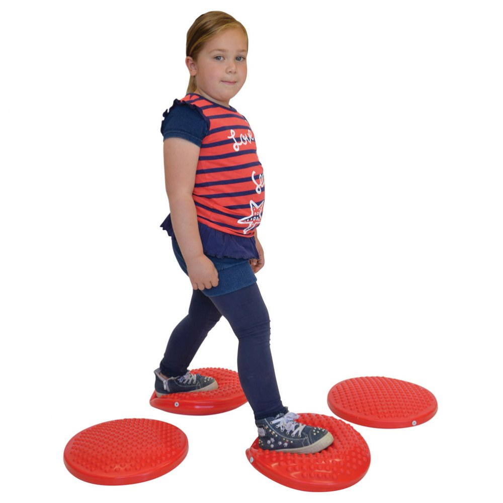Alternate Image #6 of Gymnic Disc 'o' Sit Jr. Air Cushion - Red