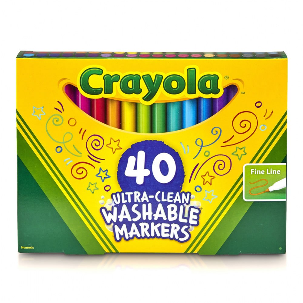 Alternate Image #1 of Crayola® 40-Count Fine Line Washable Markers (Single Box)