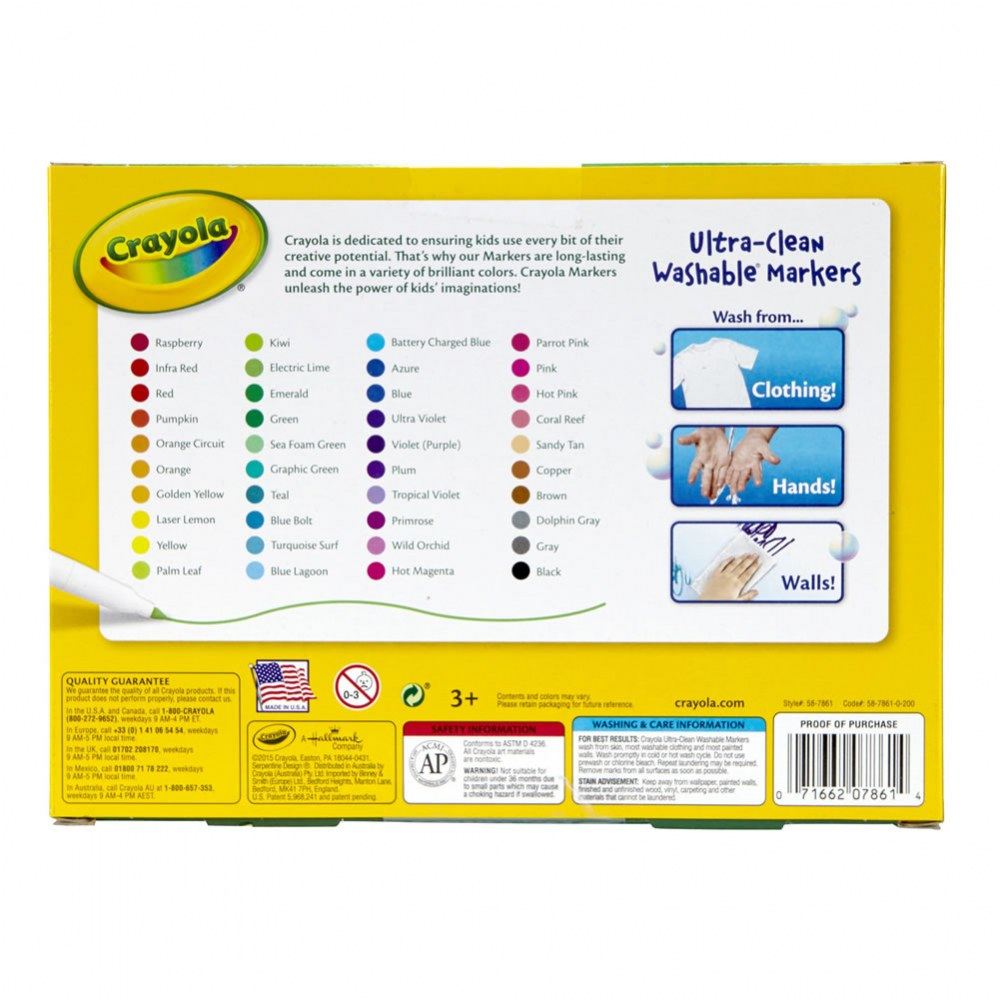 Alternate Image #2 of Crayola® 40-Count Fine Line Washable Markers (Single Box)