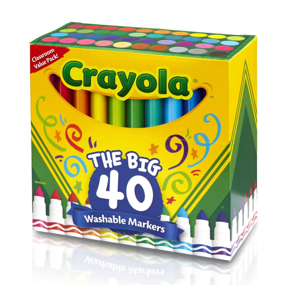 Alternate Image #1 of Crayola® 40-Count Broad-line Washable Markers (Single Box)