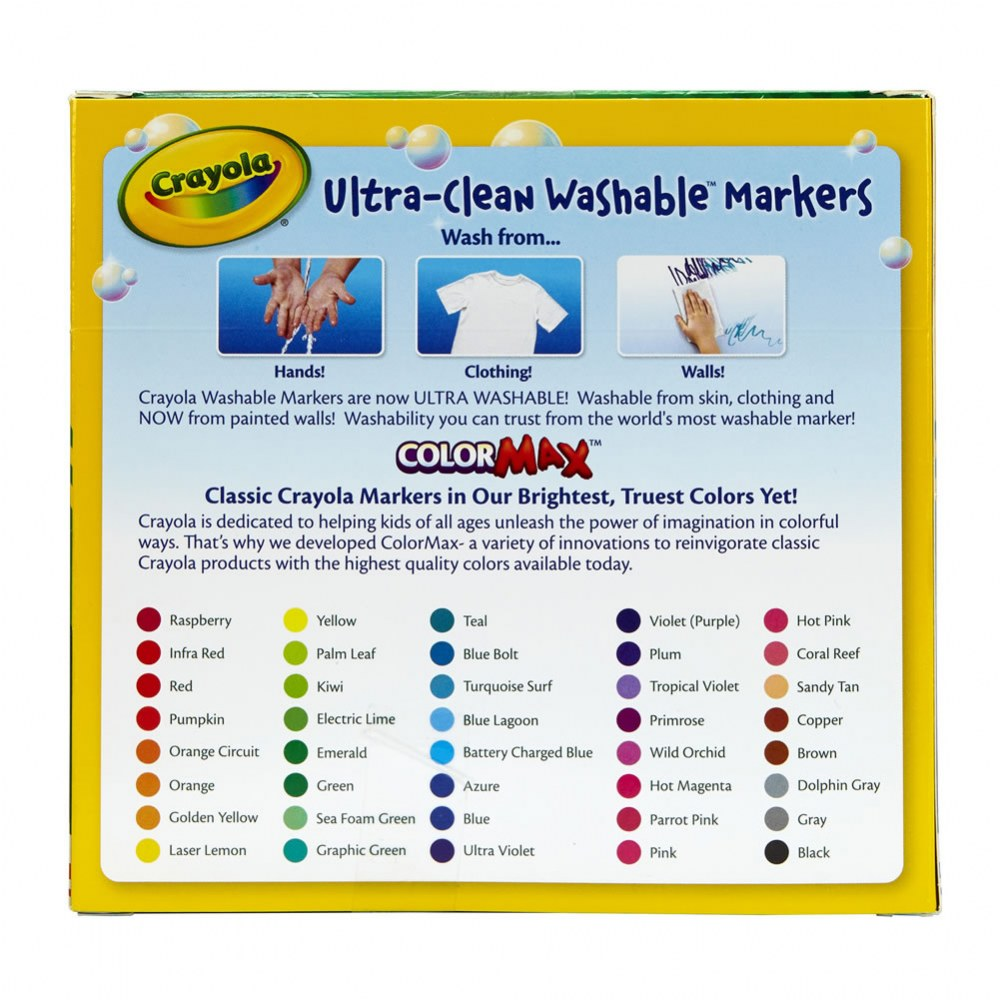 Alternate Image #2 of Crayola® 40-Count Broad-line Washable Markers (Single Box)
