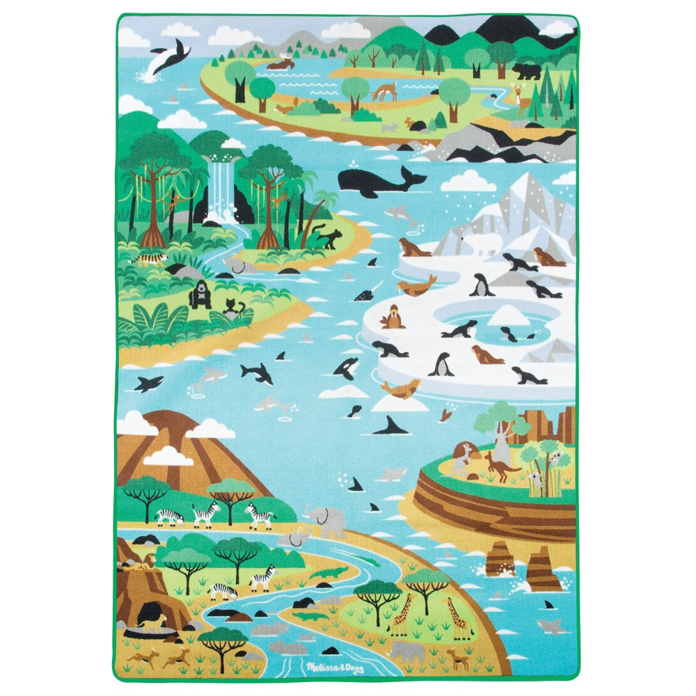 Jumbo Habitats Activity Rug & Wildlife Figures