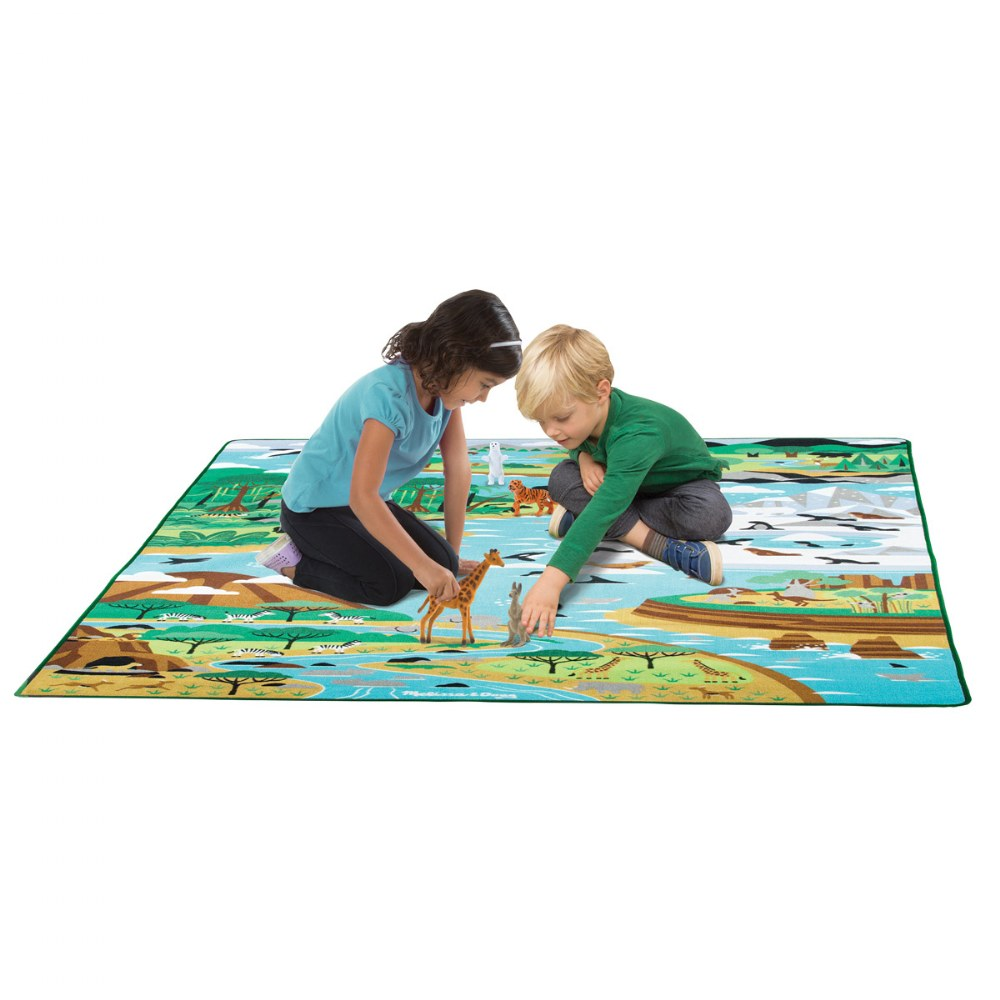 Alternate Image #2 of Jumbo Habitats Activity Rug & Wildlife Figures