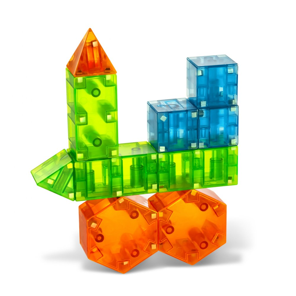 Alternate Image #2 of Magna-Qubix® 3D Magnetic Building Shapes (29 Pieces)