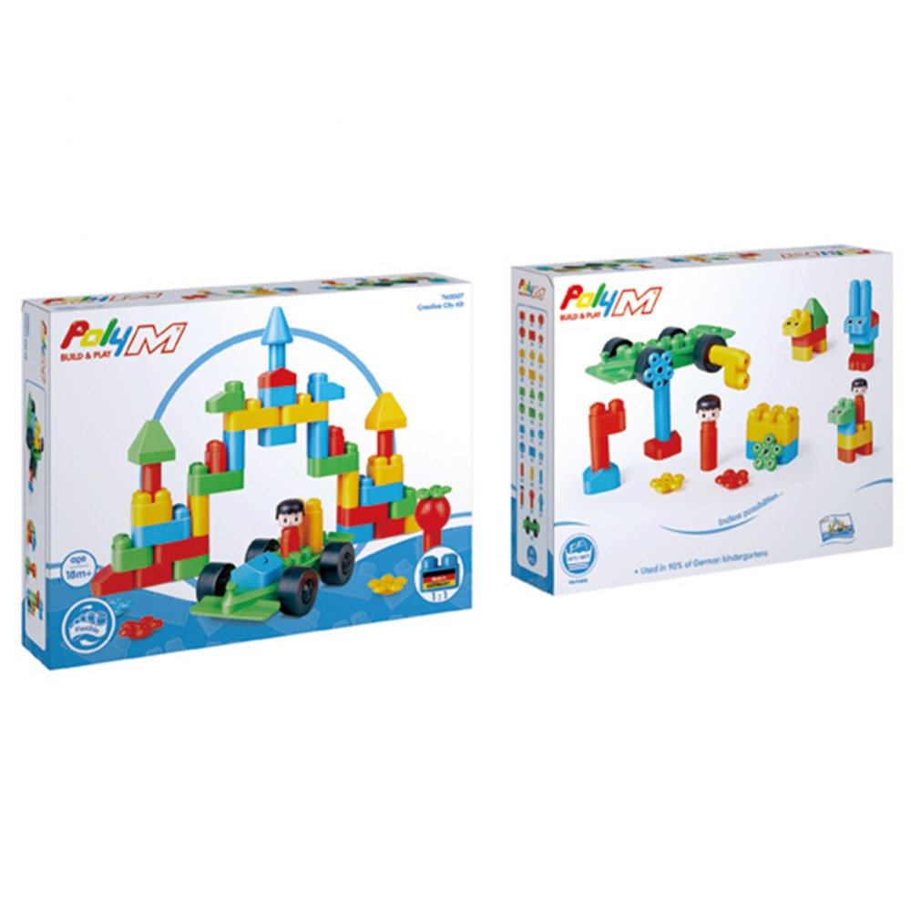 Alternate Image #2 of PolyM® Creative City Building Blocks Kit (50 Pieces)