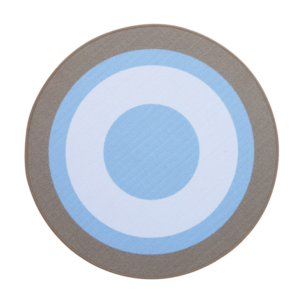 "Hip Hop Blue Rug - 39.25"" Round"
