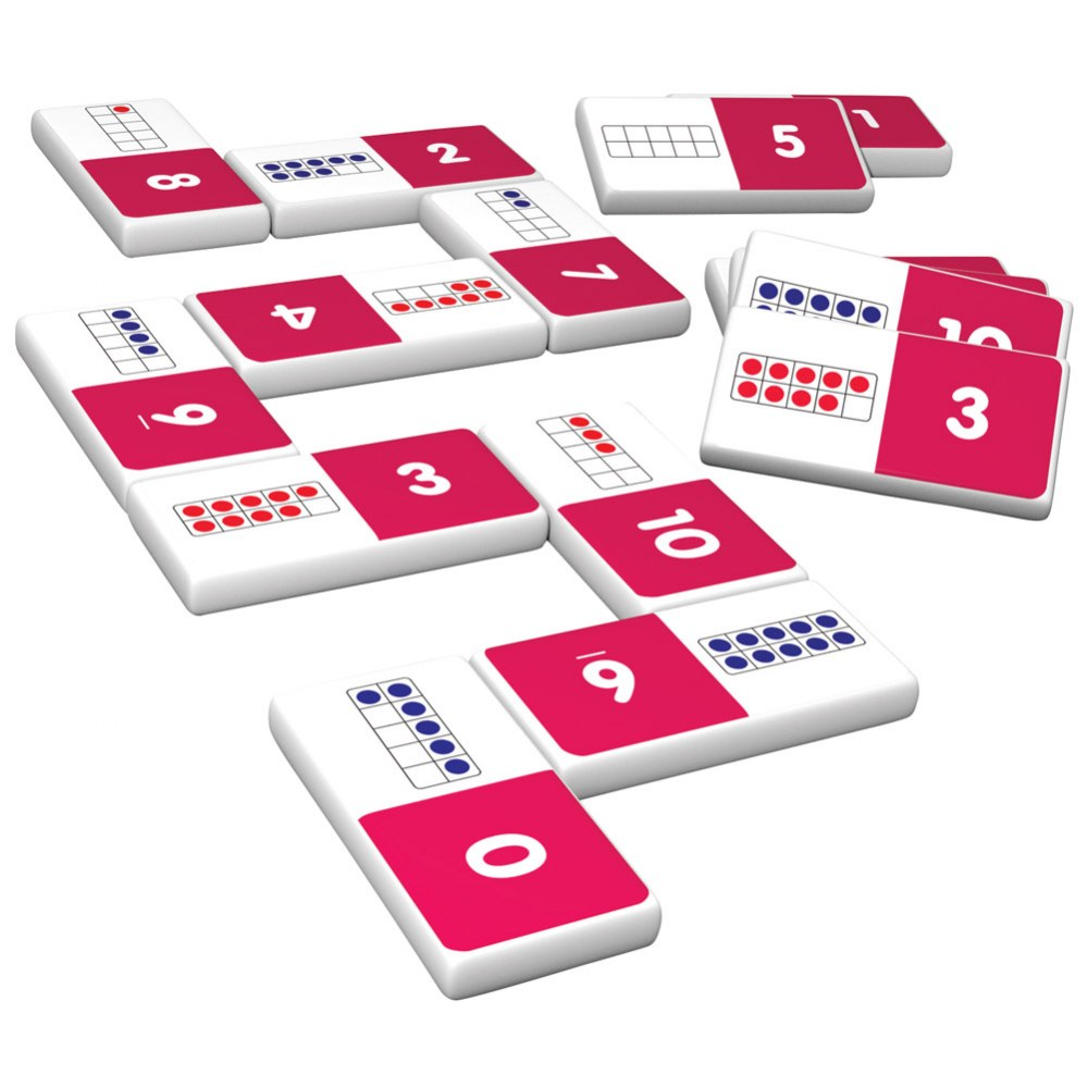 Alternate Image #3 of Ten Frame & First Words Dominoes Game Set