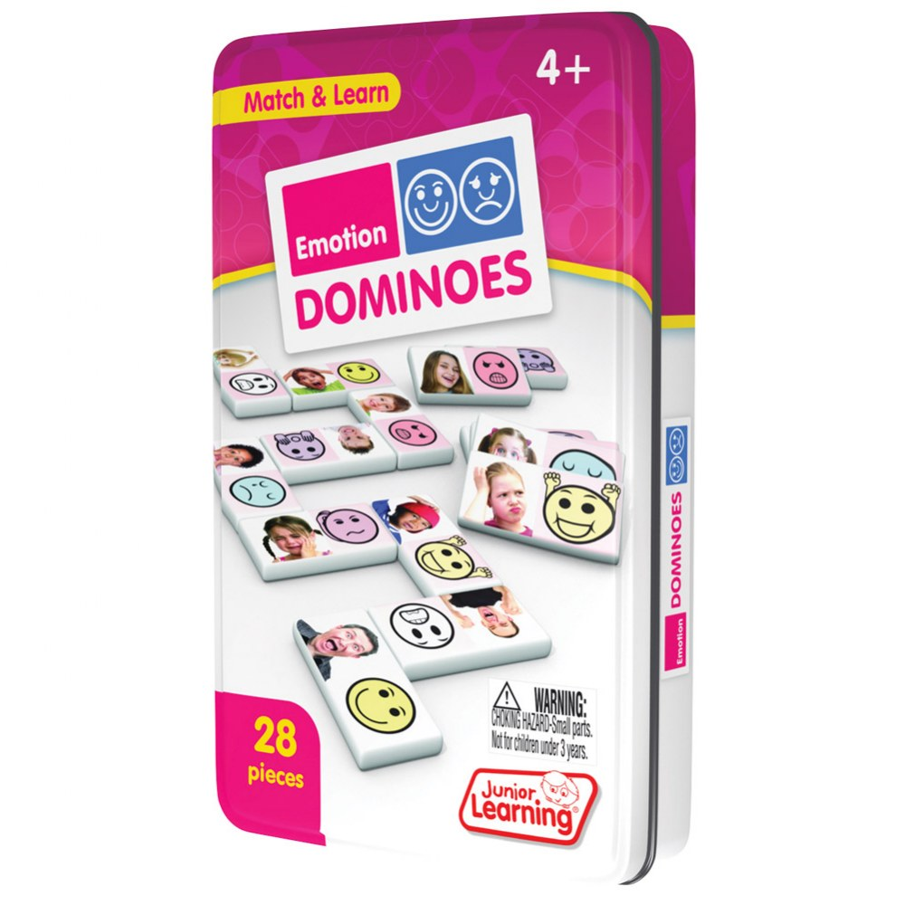 Alternate Image #1 of Emotions Dominoes Game (28 Pieces)