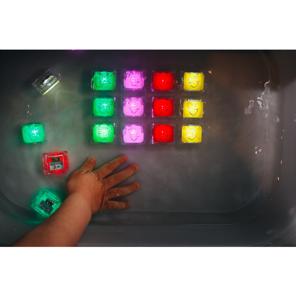 Alternate Image #7 of Glo Pals Light Up Water Cubes - Tray of 12