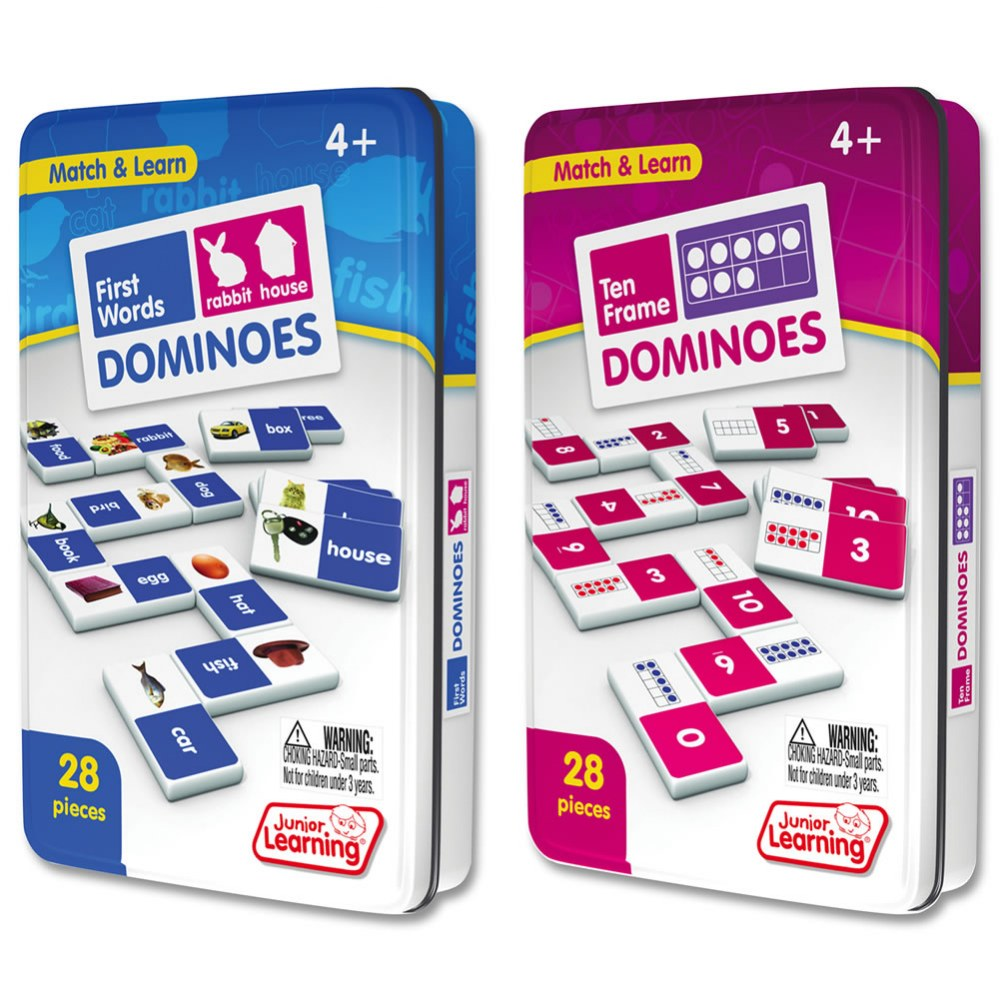 Ten Frame & First Words Dominoes Game Set