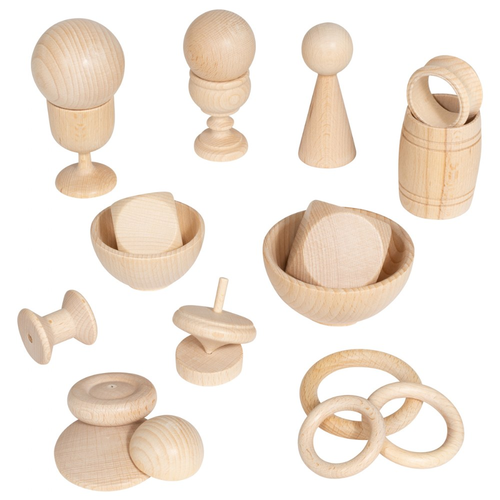 Alternate Image #3 of Toddler Heuristic Wooden Play Basic Set - 20 Pieces