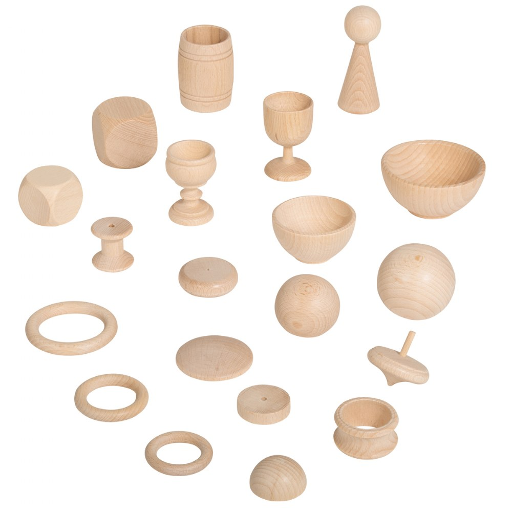 Alternate Image #4 of Toddler Heuristic Wooden Play Basic Set - 20 Pieces