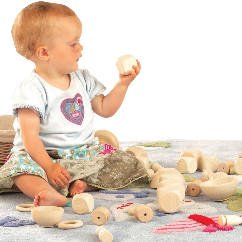Alternate Image #1 of Toddler Heuristic Wooden Play Basic Set - 20 Pieces