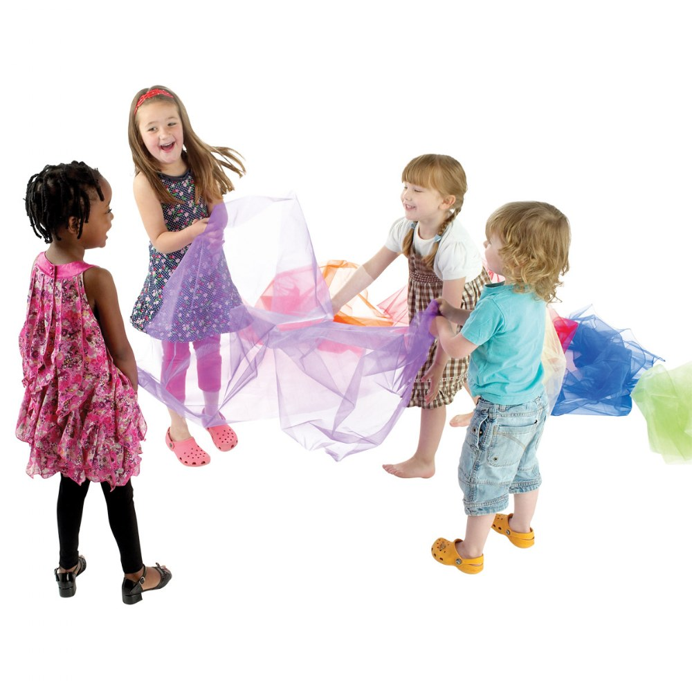 Alternate Image #1 of Pretend Play Organza Fabric - 7 Colors