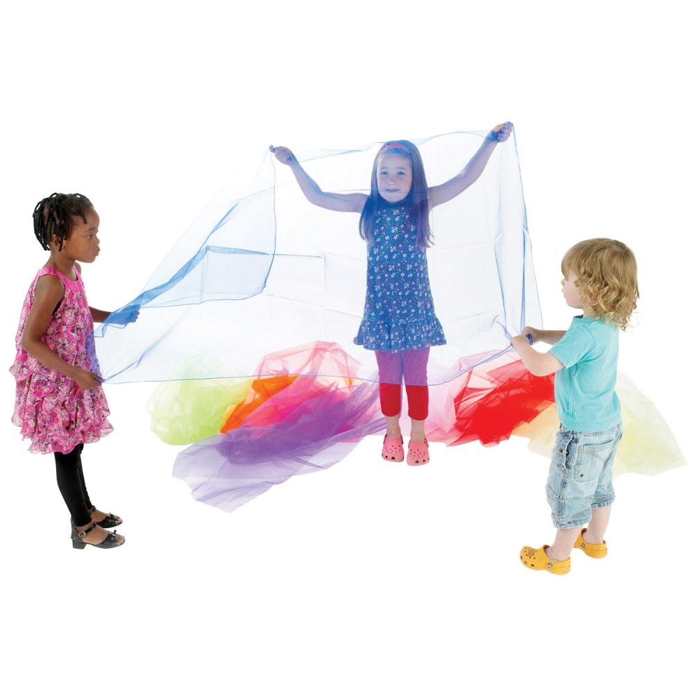 Alternate Image #2 of Pretend Play Organza Fabric - 7 Colors