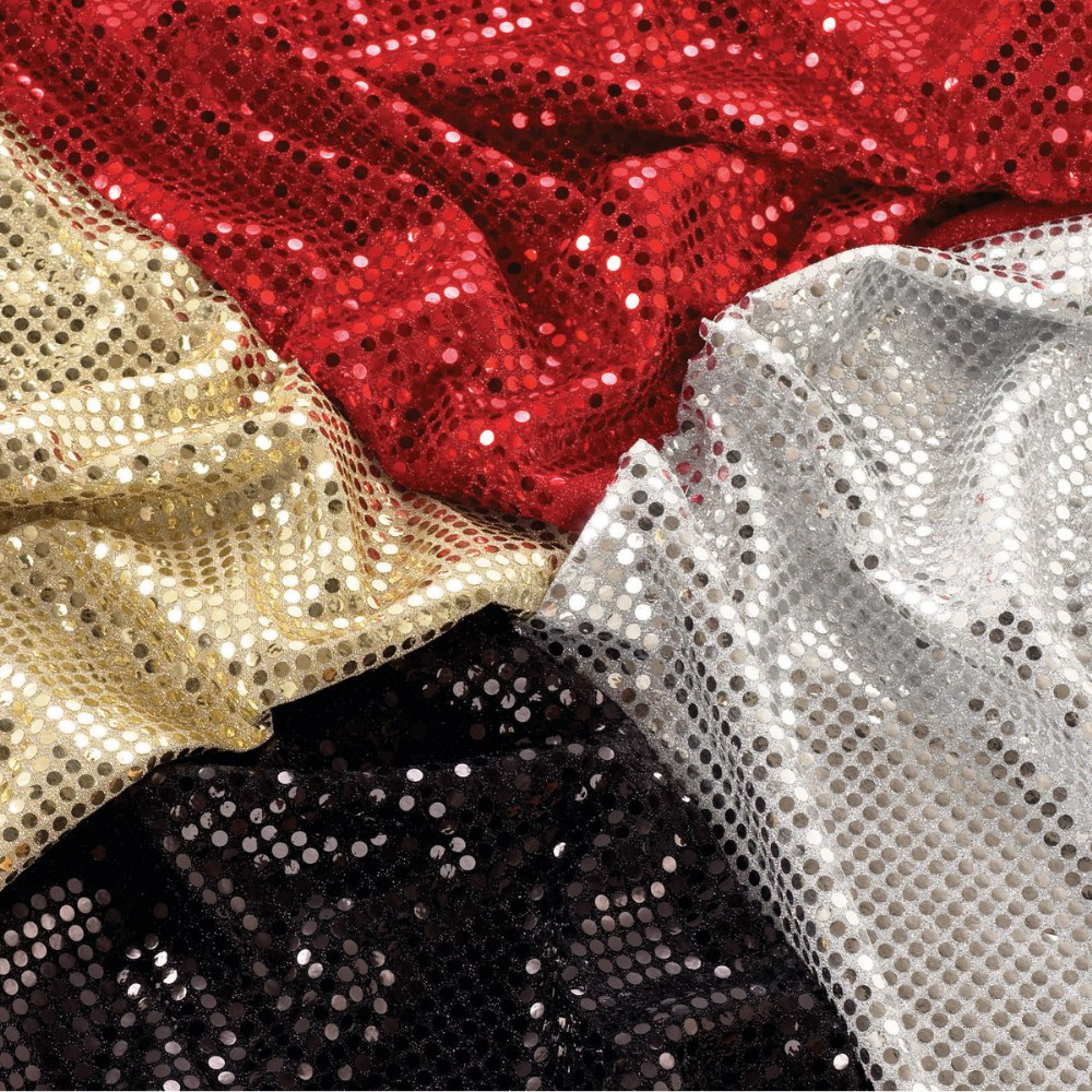Pretend Play Sequin Fabric - 4 Pieces