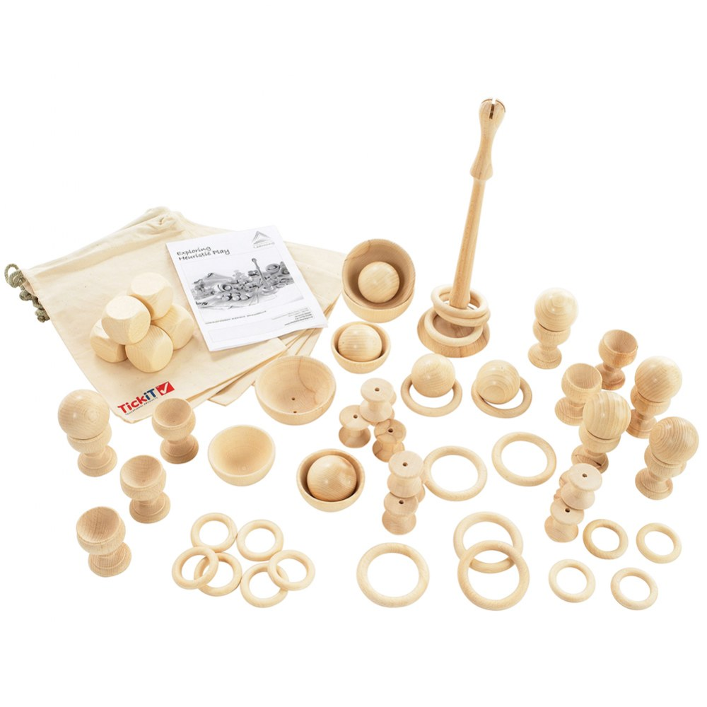 Toddler Wooden Heuristic Play Starter Pack - 63 Pieces