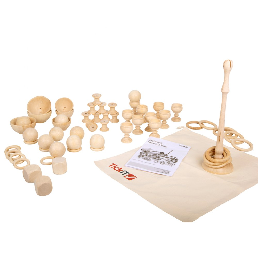 Alternate Image #1 of Toddler Wooden Heuristic Play Starter Pack - 63 Pieces
