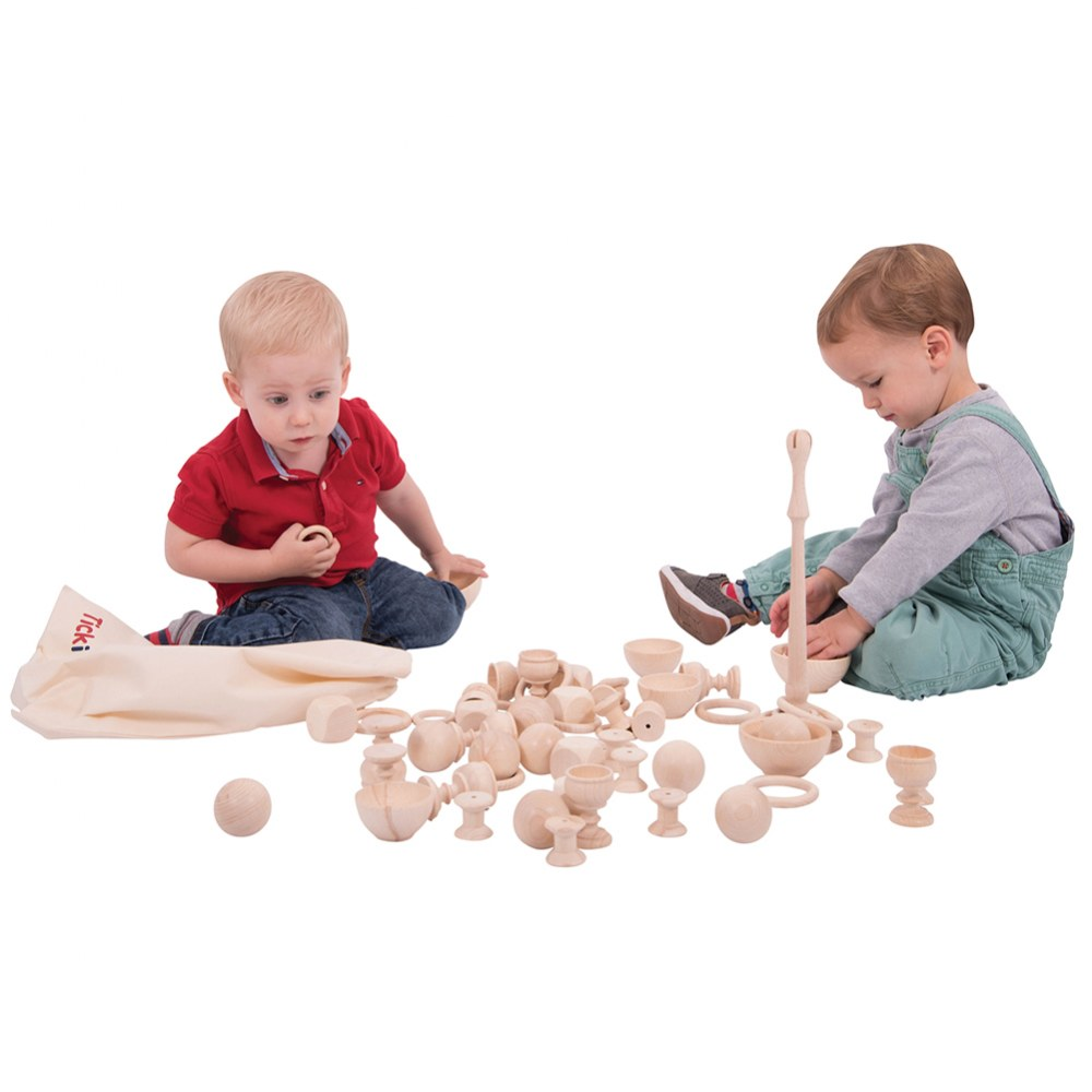 Alternate Image #3 of Toddler Wooden Heuristic Play Starter Pack - 63 Pieces