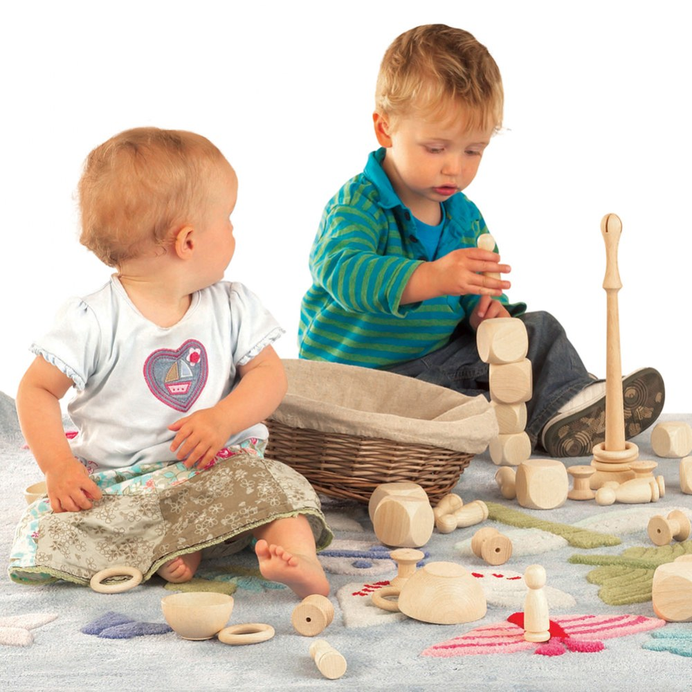 Alternate Image #4 of Toddler Wooden Heuristic Play Starter Pack - 63 Pieces