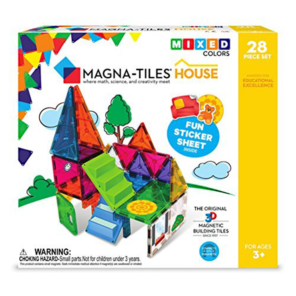 Alternate Image #4 of Magna-Tiles® 28-Piece Mixed Colors House Set