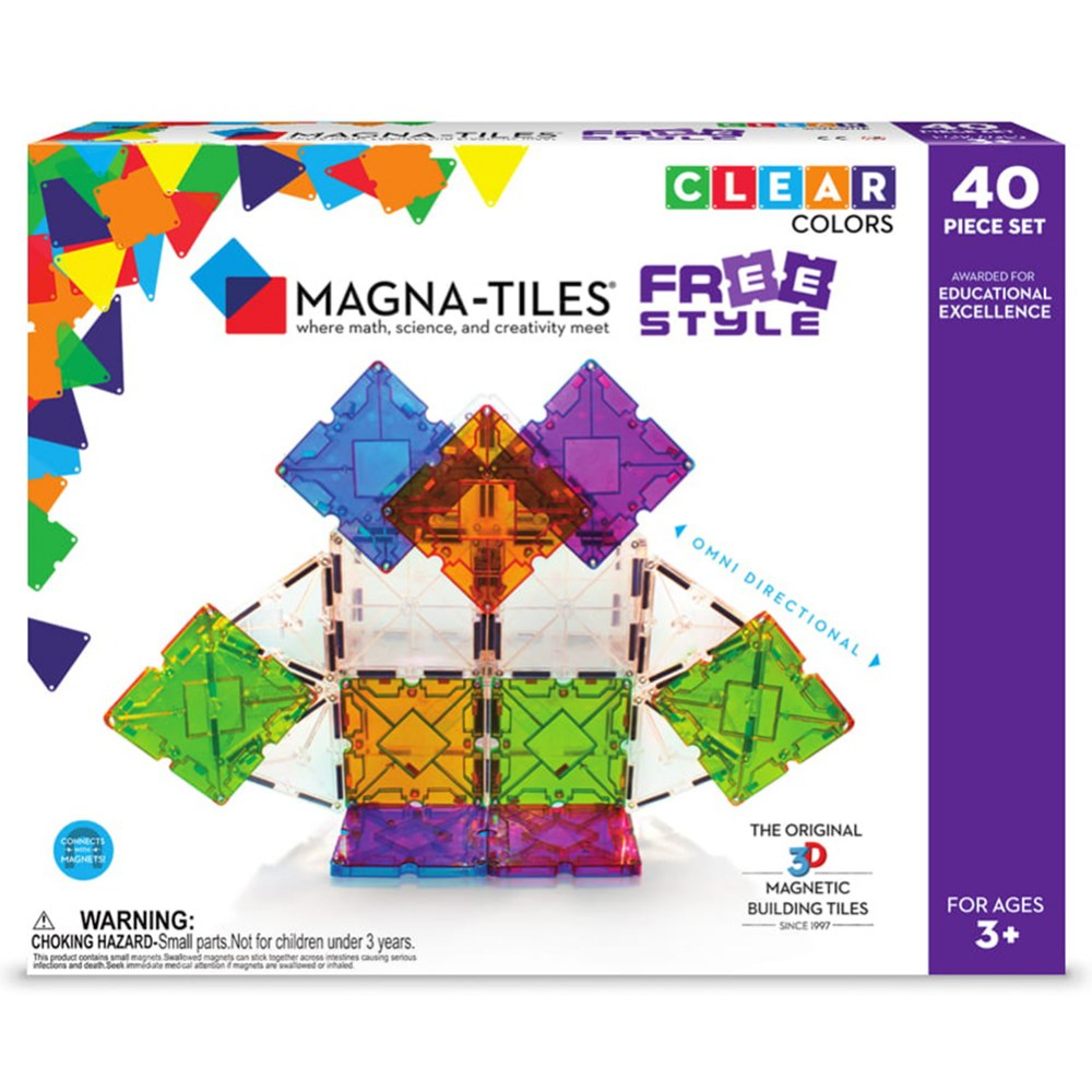 Alternate Image #4 of Magna-Tiles® 40-Piece Freestyle Set