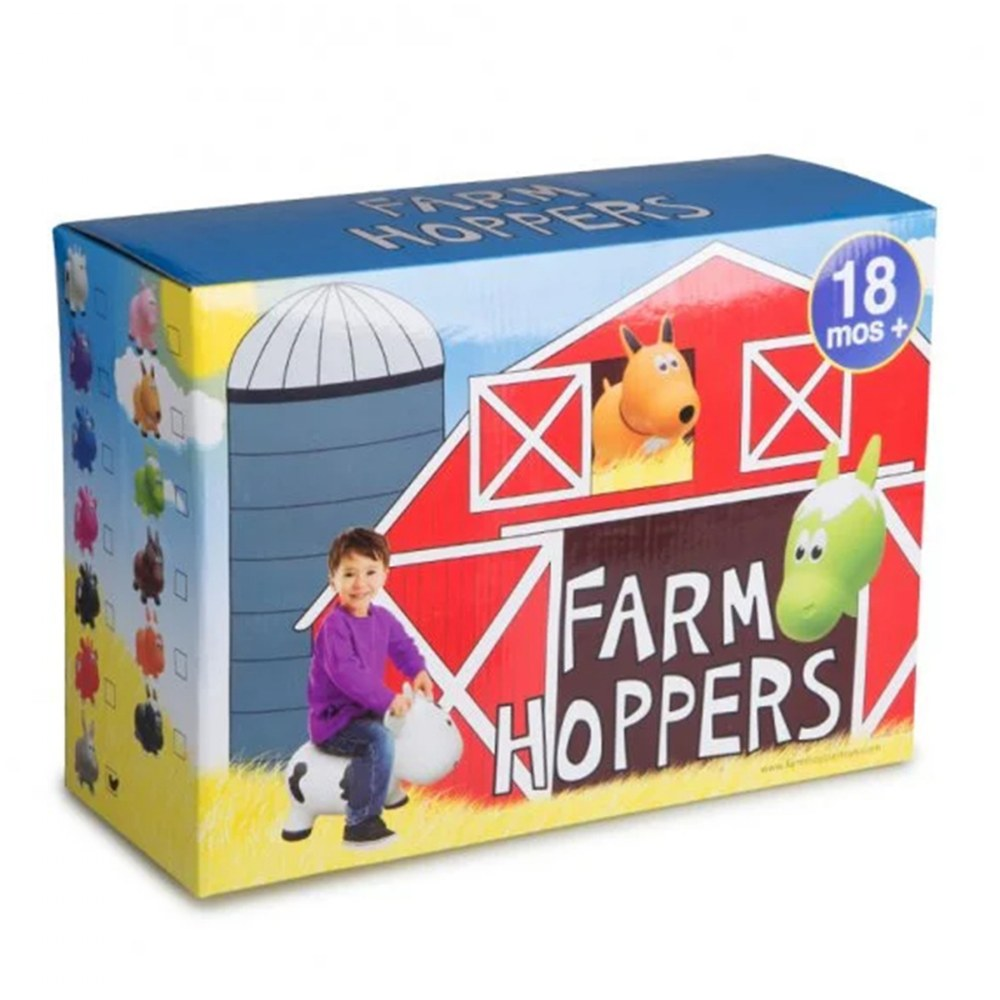 Alternate Image #3 of Farm Hoppers® Inflatable Bouncing White Cow