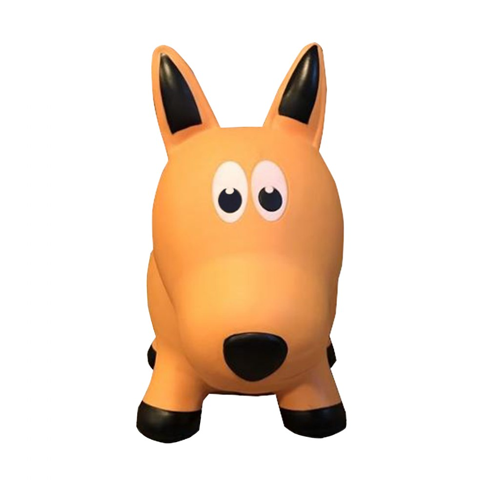 Alternate Image #1 of Farm Hoppers® Inflatable Bouncing Yellow Dog