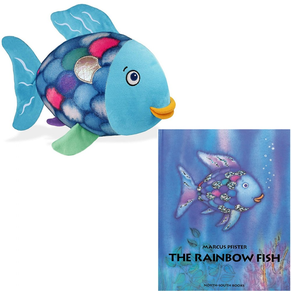 The Rainbow Fish Soft Plush Toy and Hardcover Book Set