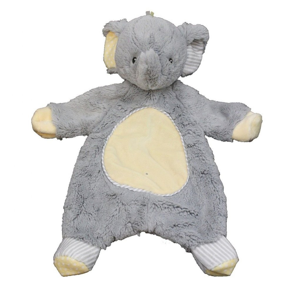 Alternate Image #1 of Cuddle Toys Sweet Little Gray Elephant Sshlumpie™ and Crinkle Cloth Book Set