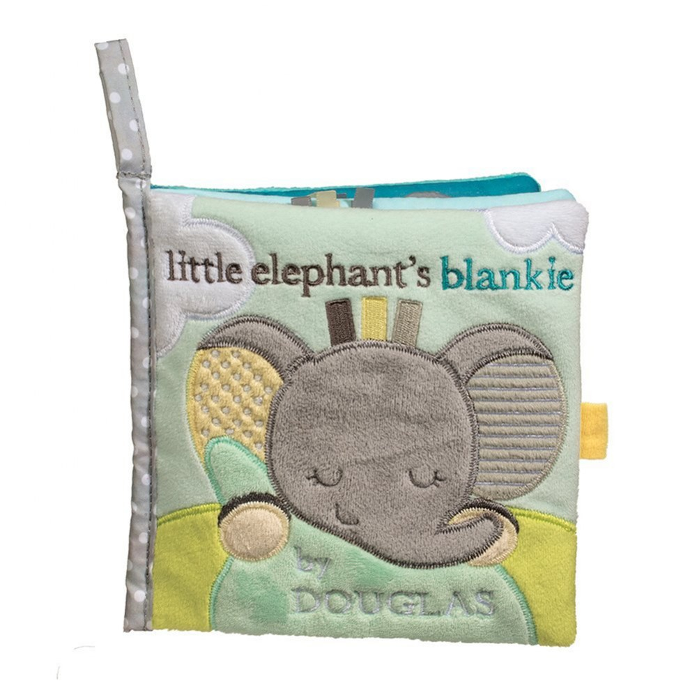 Alternate Image #2 of Cuddle Toys Sweet Little Gray Elephant Sshlumpie™ and Crinkle Cloth Book Set