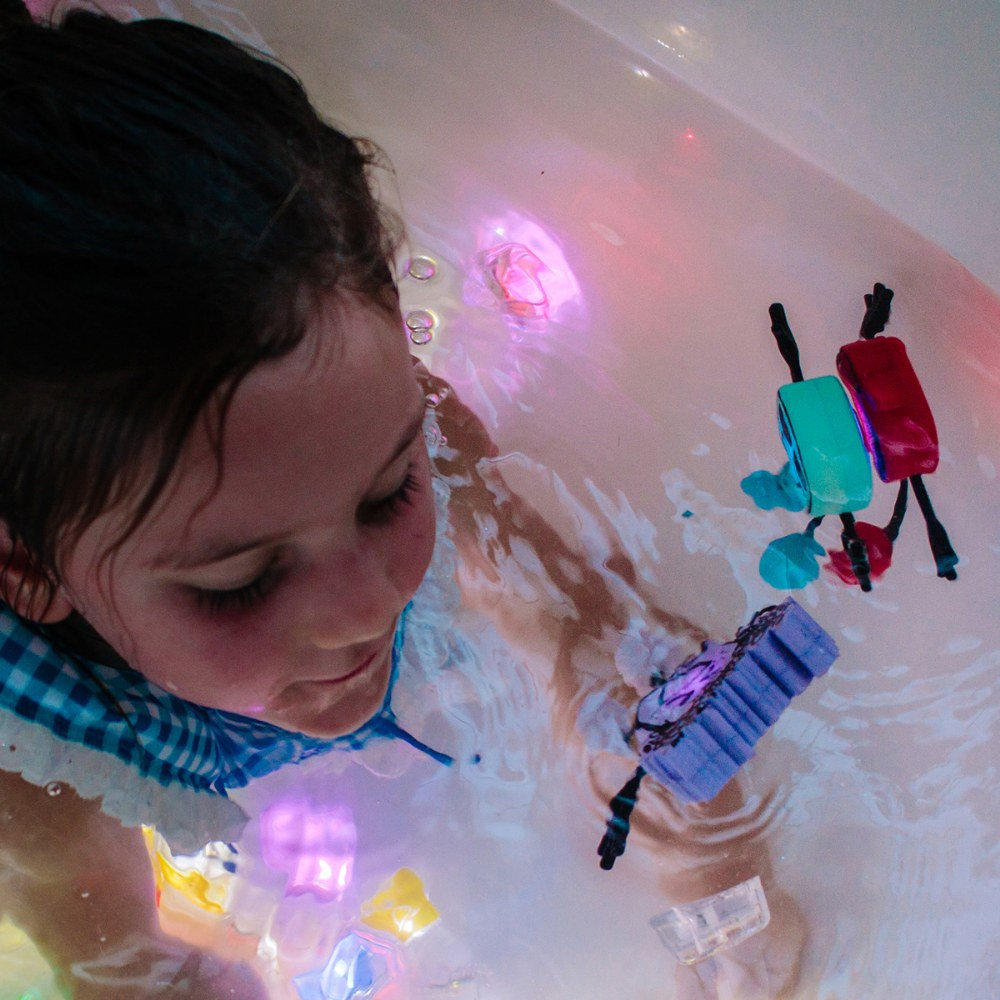 Alternate Image #5 of Glo Pals Character Blair & 6 Blue Light Up Water Cubes