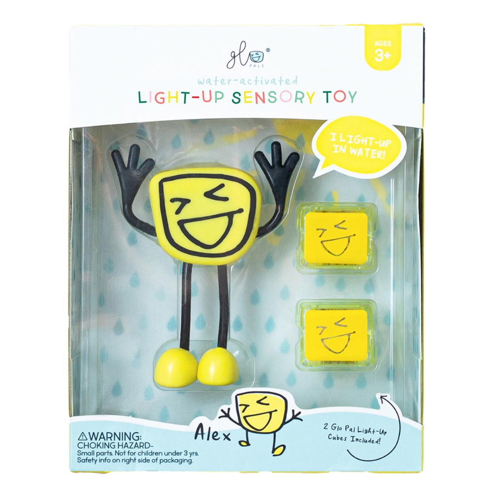 Alternate Image #1 of Glo Pals Character Alex & 6 Yellow Light Up Water Cubes