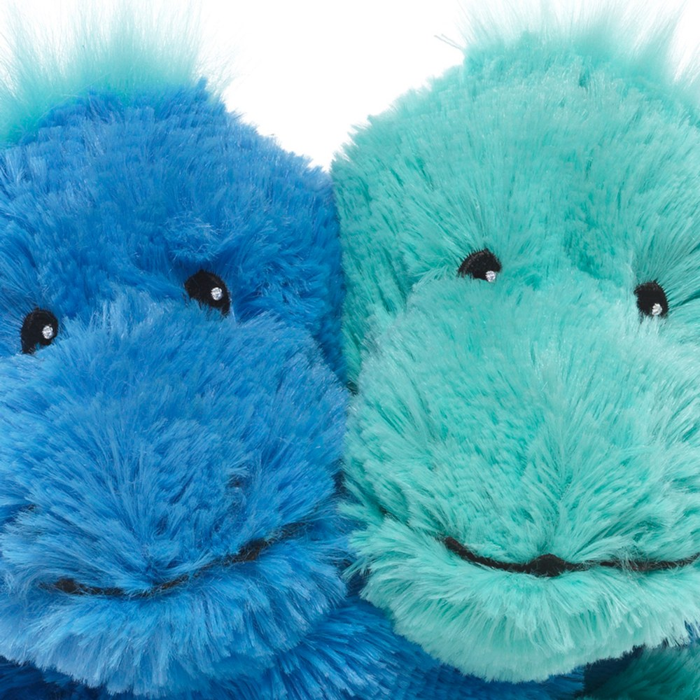 "Alternate Image #1 of Warmies® Microwavable Plush - Hugs 8.5"" Blue and Teal Dinosaurs"