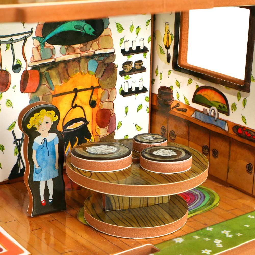 Alternate Image #2 of Goldilocks and the Three Bears 3D Puzzle - Book and Toy Set - Playful Details