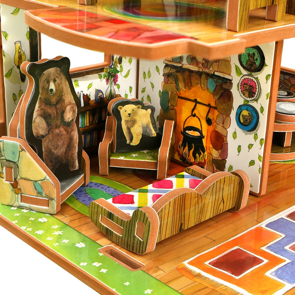 Alternate Image #3 of Goldilocks and the Three Bears 3D Puzzle - Book and Toy Set - Playful Details