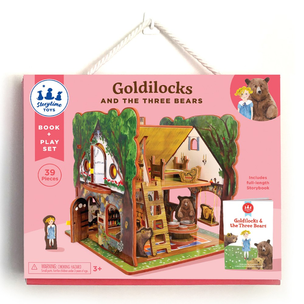 Alternate Image #5 of Goldilocks and the Three Bears 3D Puzzle - Book and Toy Set - Playful Details