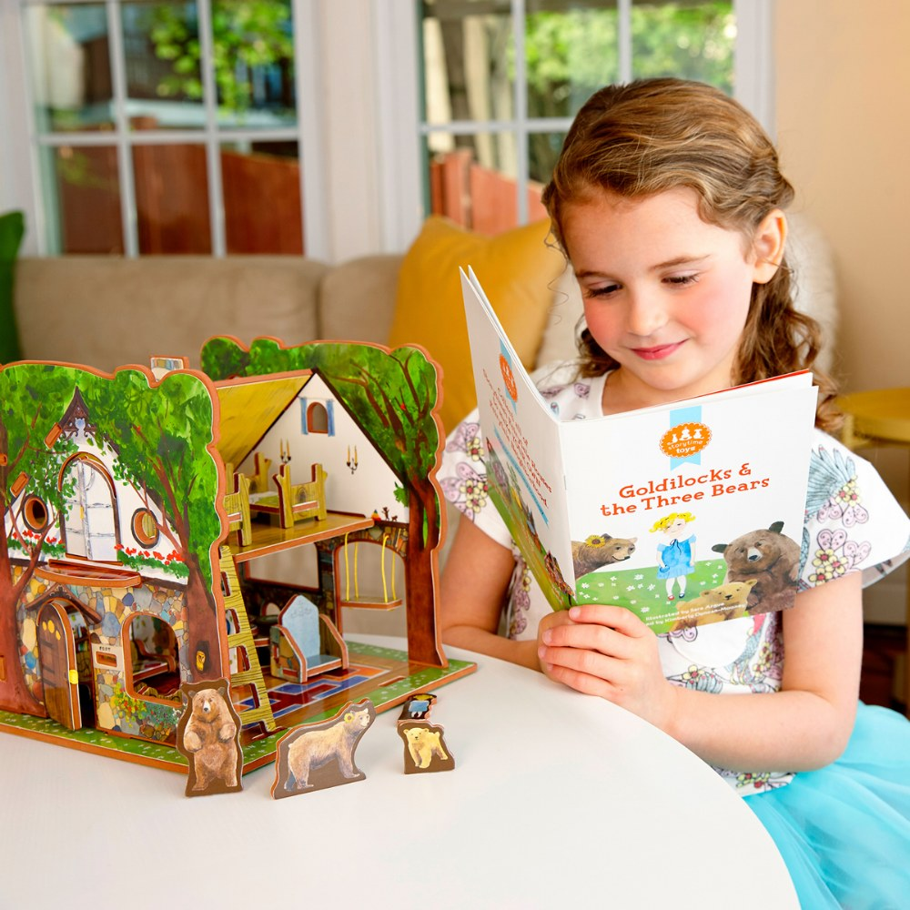 Alternate Image #4 of Goldilocks and the Three Bears 3D Puzzle - Book and Toy Set - Playful Details