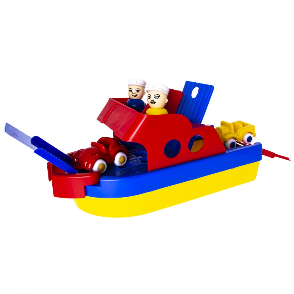 Jumbo Ferry Boat -  Primary Colors - Durable and Safe to Float on Water or Roll on Land