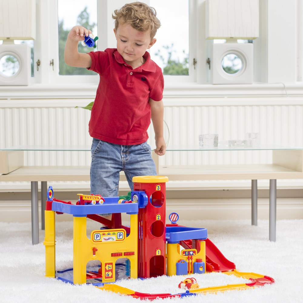 Alternate Image #2 of Toddler's 2-Story Garage & Road Set - Engage and Stimulate Imaginations