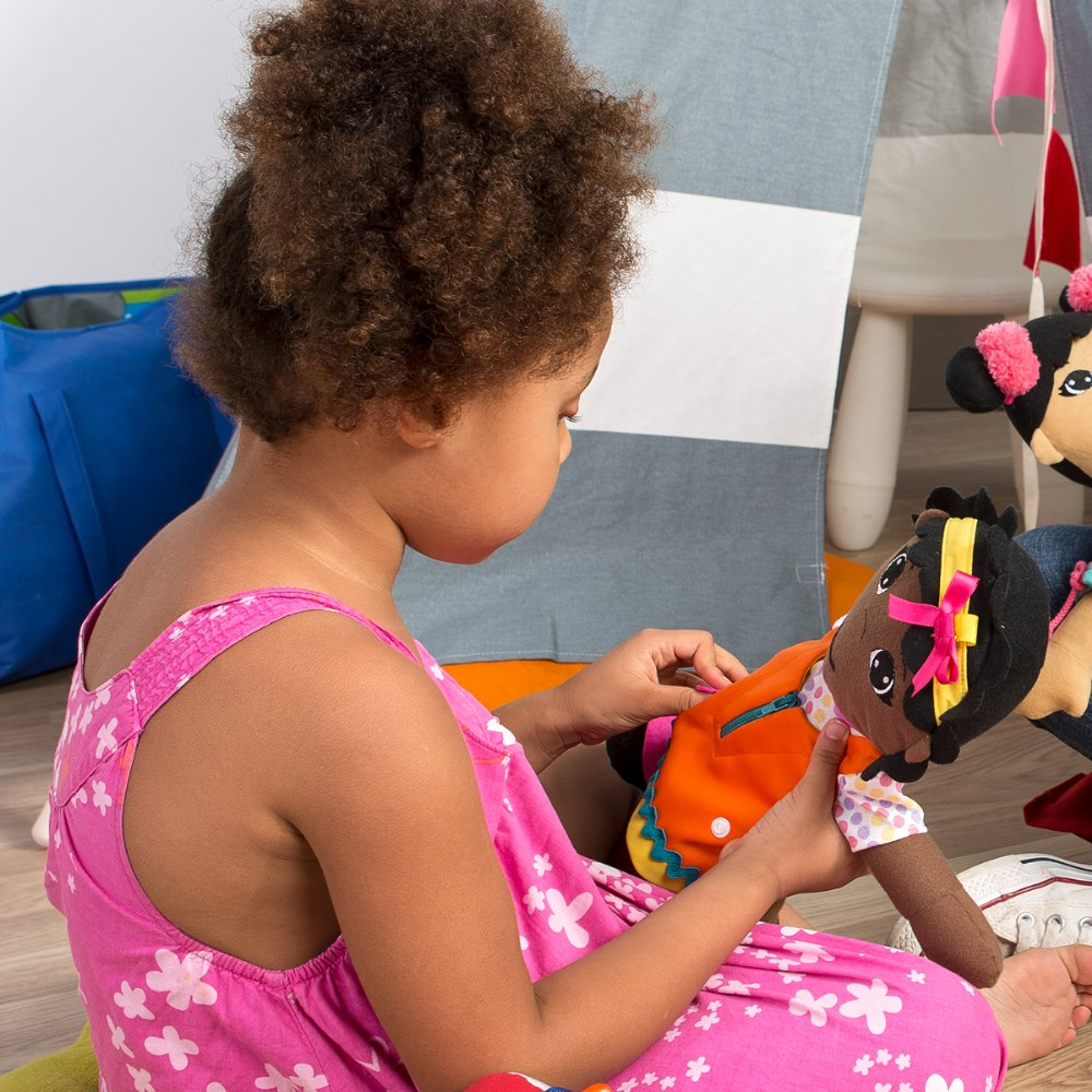 Alternate Image #3 of Fastening Learn To Dress Doll - Female with Yellow Headband