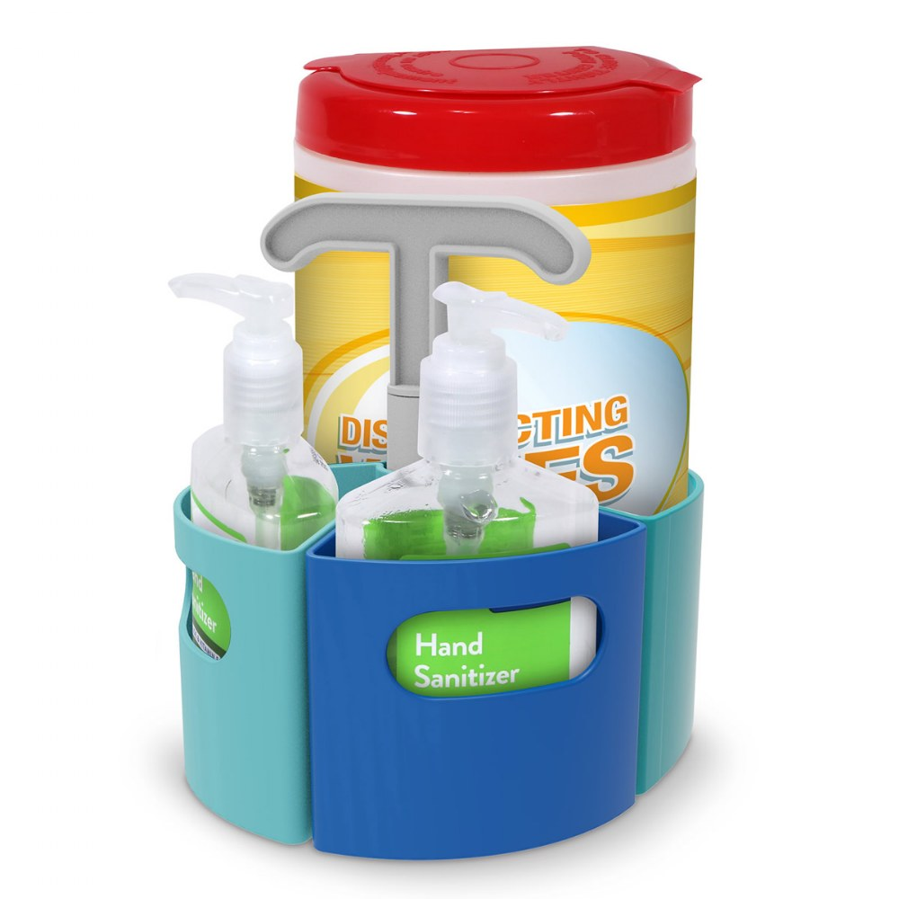 Alternate Image #1 of Create-A-Space™ Sanitizer Station - Caddy Designed to Hold Supplies