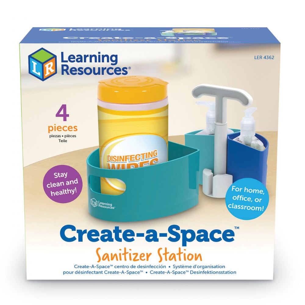 Alternate Image #3 of Create-A-Space™ Sanitizer Station - Caddy Designed to Hold Supplies